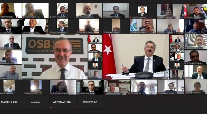 BAŞKAN 'BİLGİN'OSBÜK GÜNEYDOĞU ANADOLU BÖLGE TOPLANTISINA KATILDI…