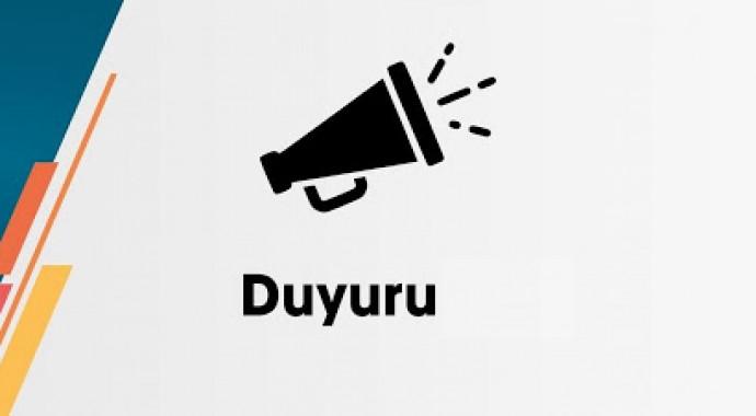 ÜYELERİMİZE ÖNEMLE DUYURULUR…